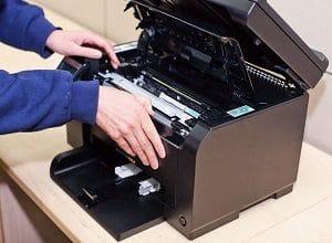 На этапе диагностики принтера